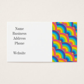 Colorful Repeating Rainbow Pattern Gifts Business Card