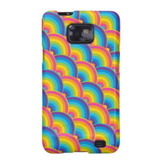 Colorful Repeating Rainbow Pattern Gifts Galaxy S2 Cover