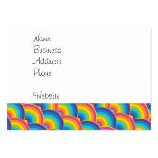 Colorful Repeating Rainbow Pattern Gifts Large Business Card
