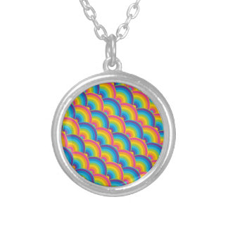 Colorful Repeating Rainbow Pattern Gifts Necklaces