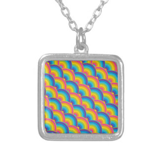Colorful Repeating Rainbow Pattern Gifts Pendant