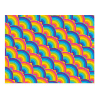 Colorful Repeating Rainbow Pattern Gifts Post Card