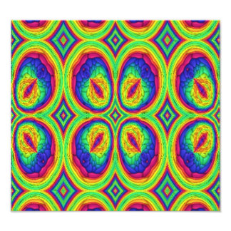 Colorful repeating stylish pattern photo print