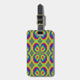 Colorful repeating stylish pattern tag for luggage