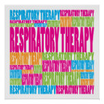 Colorful Respiratory Therapy Posters