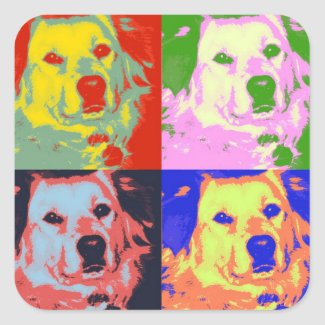 Colorful Retrievers sticker
