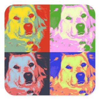 Colorful Retrievers sticker