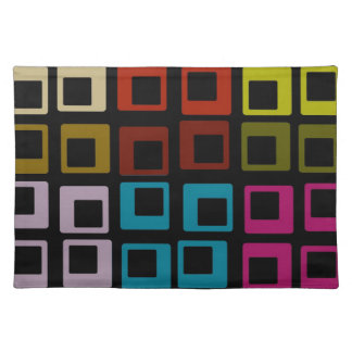 Colorful Retro Abstract Art Cloth Placemat