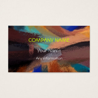 Colorful Retro Abstract Painting 11 Business Card