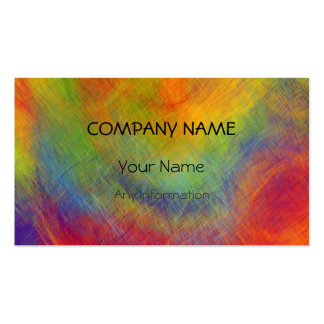 Colorful Retro Abstract Painting 7 Business Card Template