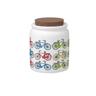 Colorful Retro Bicycles Candy Dish