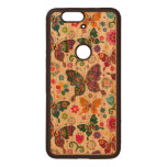 Colorful Retro Butterflies And Flowers Pattern Wood Nexus 6P Case<br><div class='desc'>Cool colorful retro butterflies and flowers pattern Custom and optional monogram version available by email request. Design is available on other products and can be requested on any product offered by Zazzle.</div>