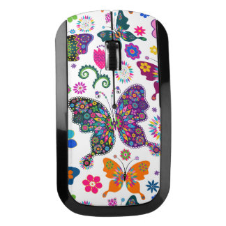 Colorful Retro Butterfy's Pattern Wireless Mouse