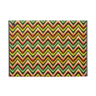 Colorful Retro Chevron Pattern Warm Tones Cover For iPad Mini