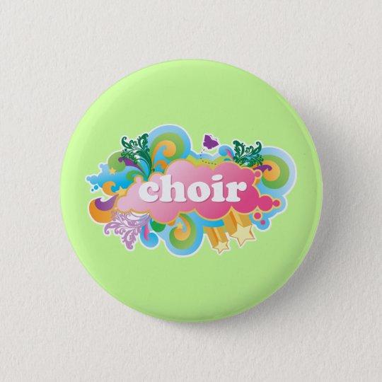Colorful Retro Choir Design Gift Pinback Button