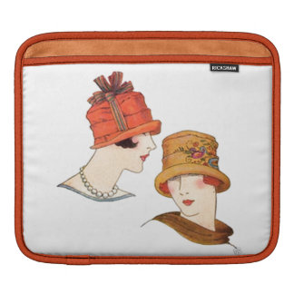 Colorful Retro Classy Sassy Sissy Girl Vintage Hat iPad Sleeve