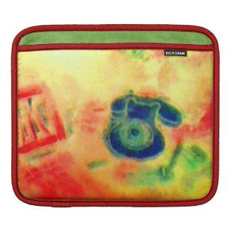 Colorful Retro Classy Sassy Sissy Telephone Sleeve For iPads