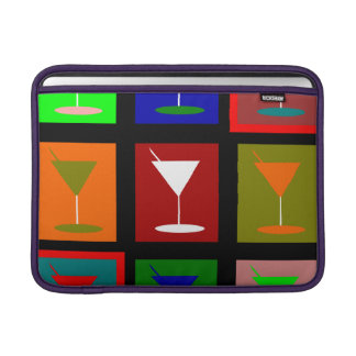 Colorful retro Cocktail glasses MacBook Air Sleeve