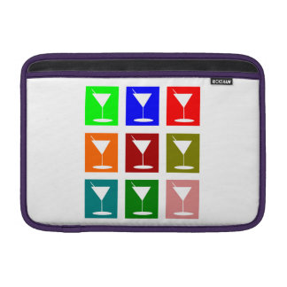 Colorful retro Cocktail glasses MacBook Air Sleeves