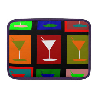 Colorful retro Cocktail glasses Sleeve For MacBook Air