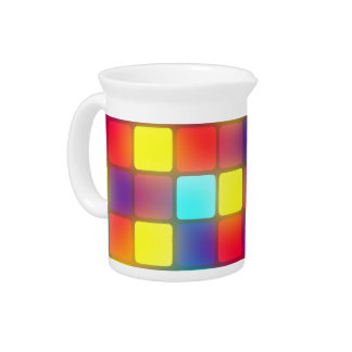 Colorful retro dancefloor beverage pitcher