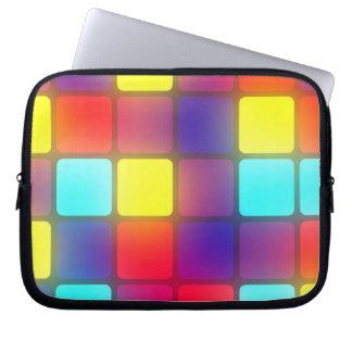 Colorful retro dancefloor computer sleeve