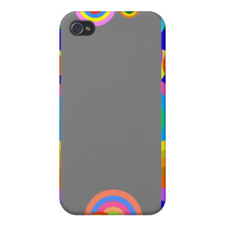 Colorful retro dots and waves case for iPhone 4