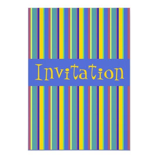 Colorful Retro Early 1960s Stripes - Invitation