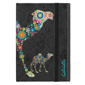 Colorful Retro Floral Camel & Black Damasks 2 iPad Mini Case