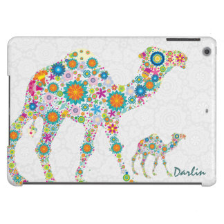 Colorful Retro Floral Camel Illustration iPad Air Cover