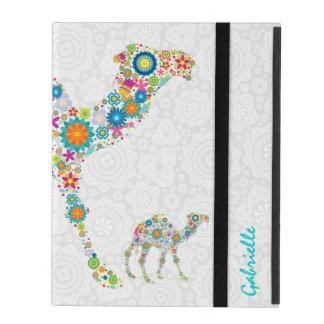 Colorful Retro Floral Camel iPad Cases