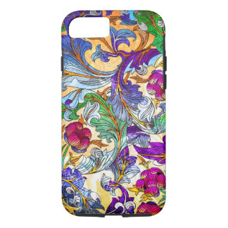 Colorful Retro Floral Collage 4-Purple Tint iPhone 7 Case