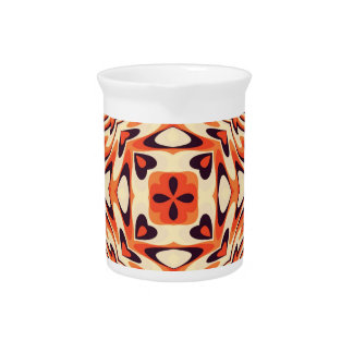 Colorful Retro Floral Seamless Beverage Pitchers