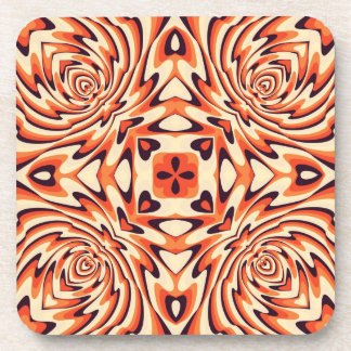 Colorful Retro Floral Seamless Drink Coasters