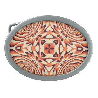 Colorful Retro Floral Seamless Pattern Belt Buckle