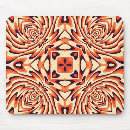 Colorful Retro Floral Seamless Pattern Mouse Pad