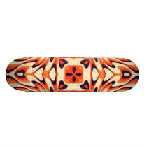 Colorful Retro Floral Seamless Pattern Skateboard