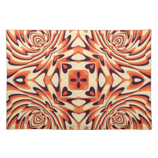 Colorful Retro Floral Seamless Cloth Placemat