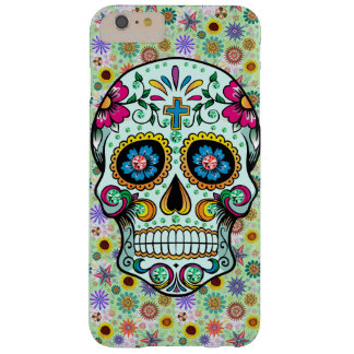 Colorful Retro Floral Sugar Skull Barely There iPhone 6 Plus Case