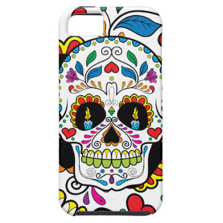 Colorful Retro Floral Sugar Skull Burning Candles iPhone SE/5/5s Case