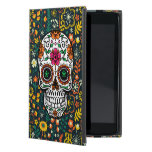 Colorful Retro Floral Sugar Skull iPad Mini Covers
