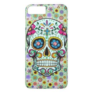 Colorful Retro Floral Sugar Skull iPhone 7 Plus Case