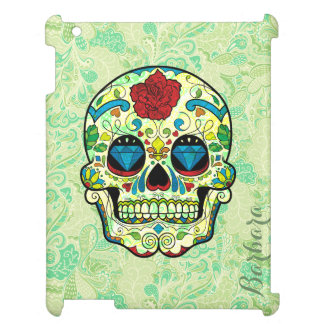 Colorful Retro Floral Sugar Skull Red Rose 2b Cover For The iPad 2 3 4