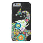 Colorful Retro Flower Elephant & A Bird Barely There iPhone 6 Case