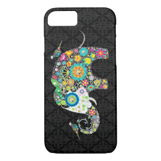 Colorful Retro Flower Elephant & Birds iPhone 7 Case