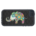 Colorful Retro Flower Elephant Design iPhone 5 Case
