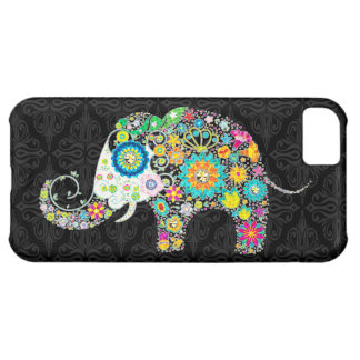 Colorful Retro Flower Elephant Design iPhone 5C Cover