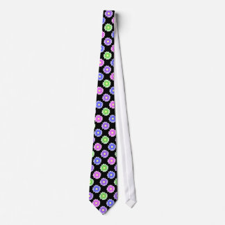 Colorful Retro Flower Pattern Tie