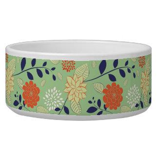 Colorful Retro Flower Smal Print Bowl