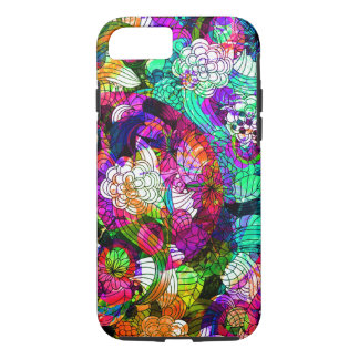Colorful Retro Flowers Collage iPhone 7 Case